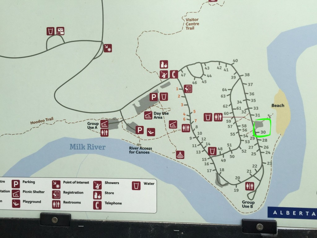 writing on stone camp map