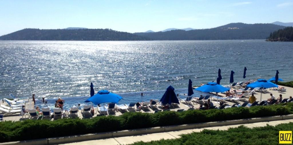 CDA Resort beach and pool