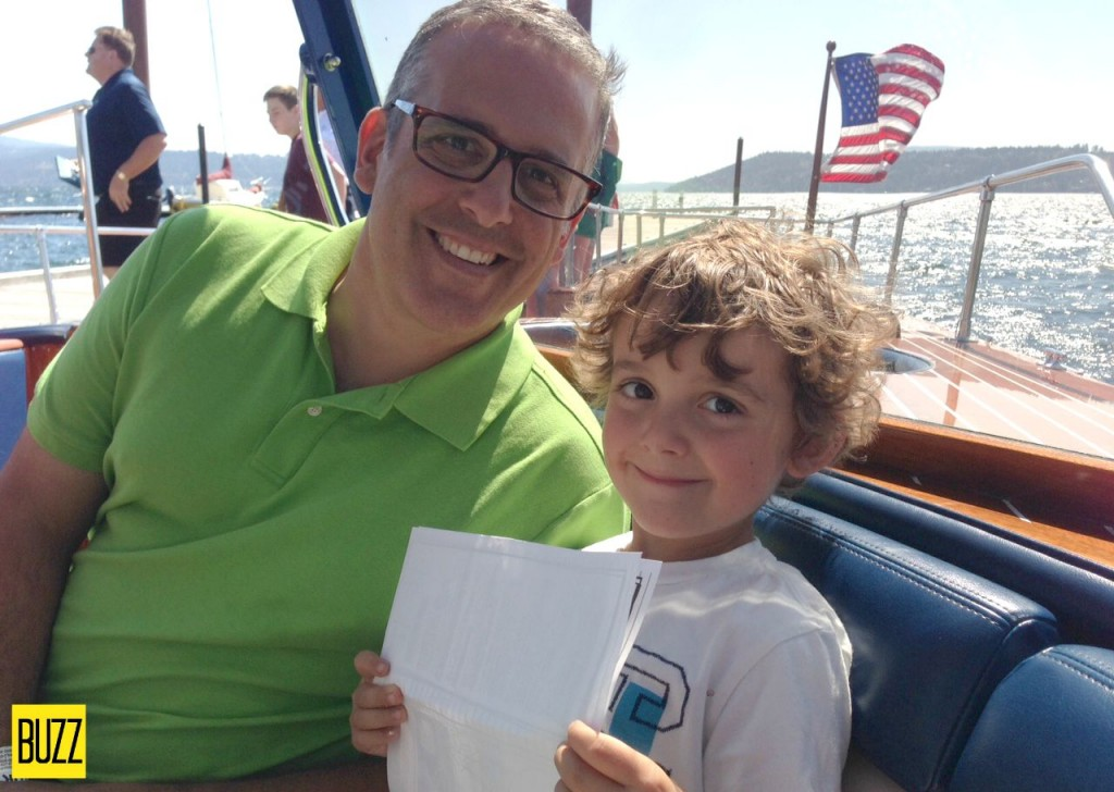 Daddy and Charlie on the boat ride