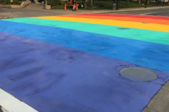 Rainbow Crosswalk in Calgary