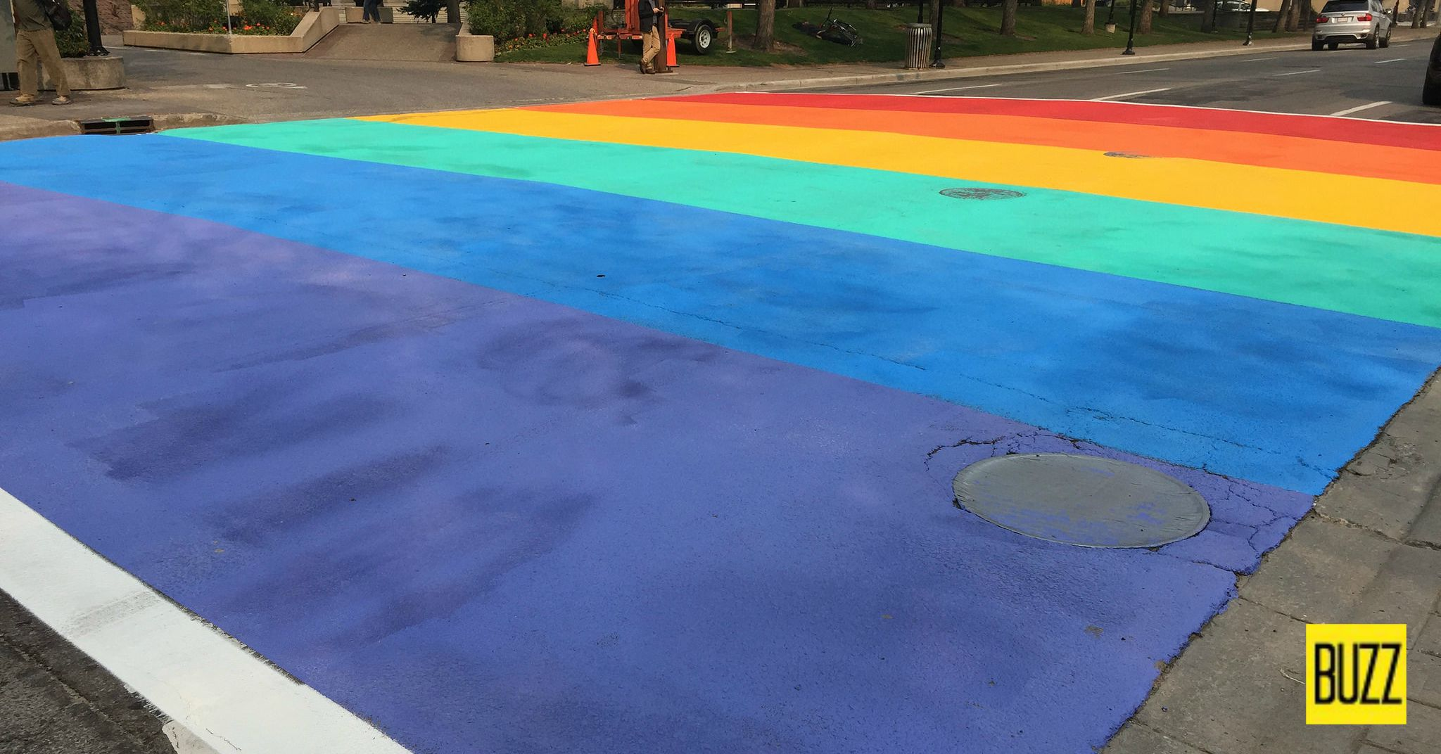 Seen In Calgary 40 Finally There S A Rainbow Crosswalk