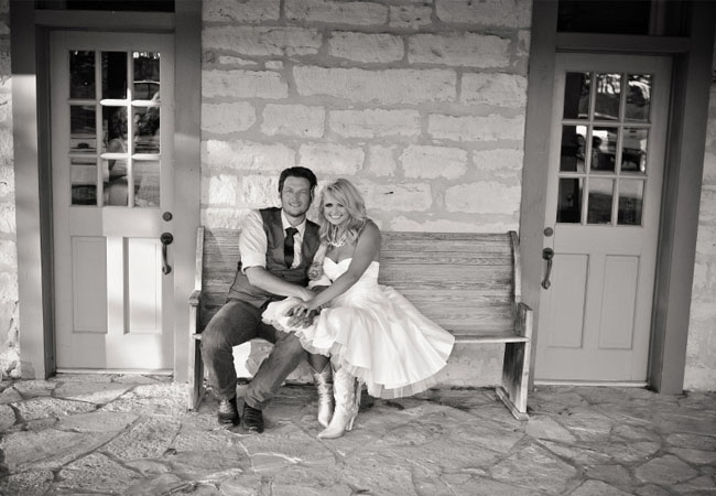 Blake Shelton Denim Wedding