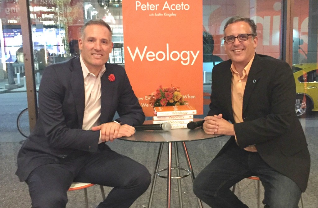Buzz Bishop and Peter Aceto at Weology Book Launch