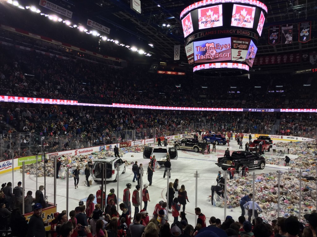 Calgary Hitmen Teddy Bear Toss Video