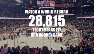 Calgary Hitmen 2015 Teddy Bear Toss