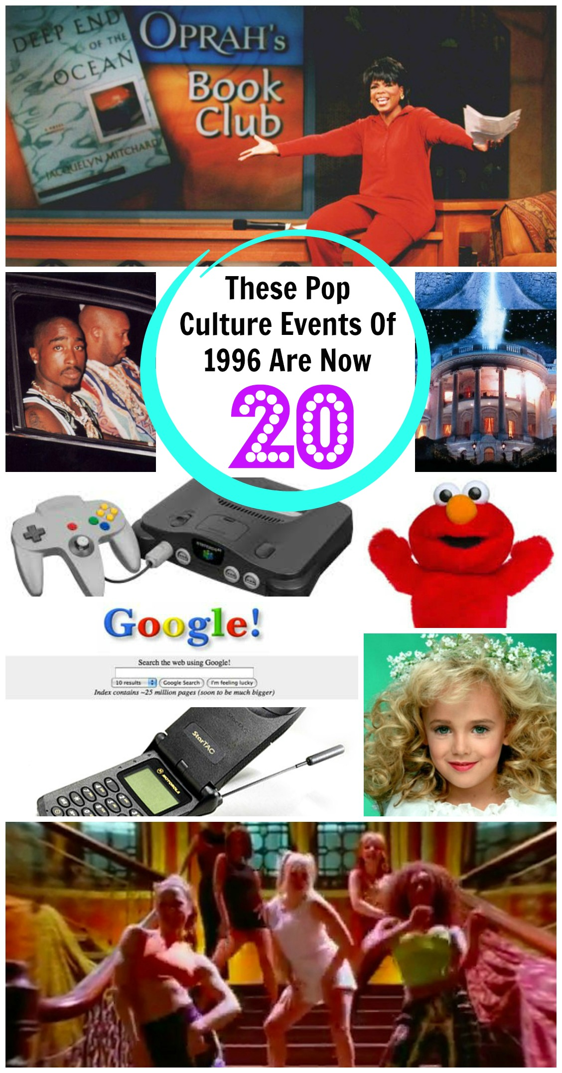 Top Events In Pop Culture from 1996 Turning 20 in 2016