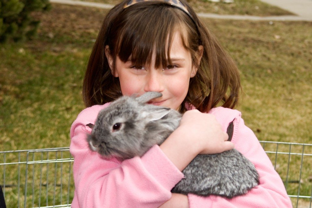 Hugging the Easter Bunny