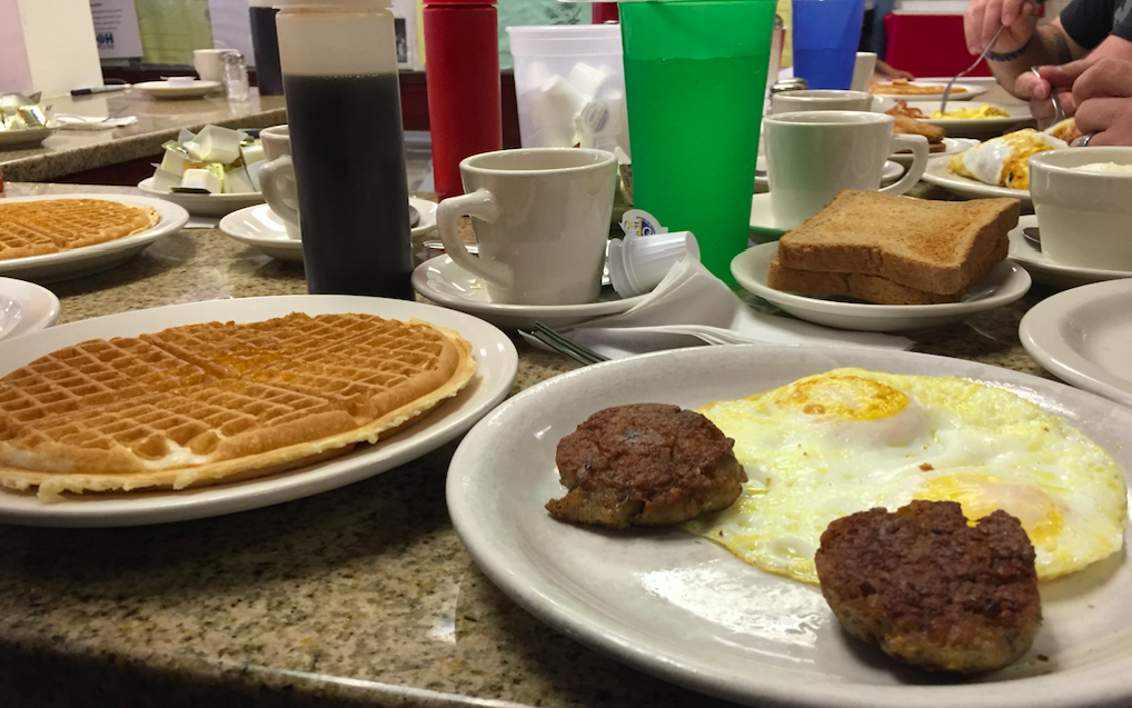 Breakfast at Lincoln Waffle House