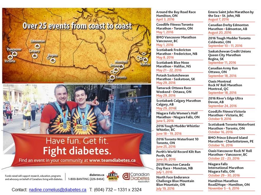 Team Diabetes Canada 2016