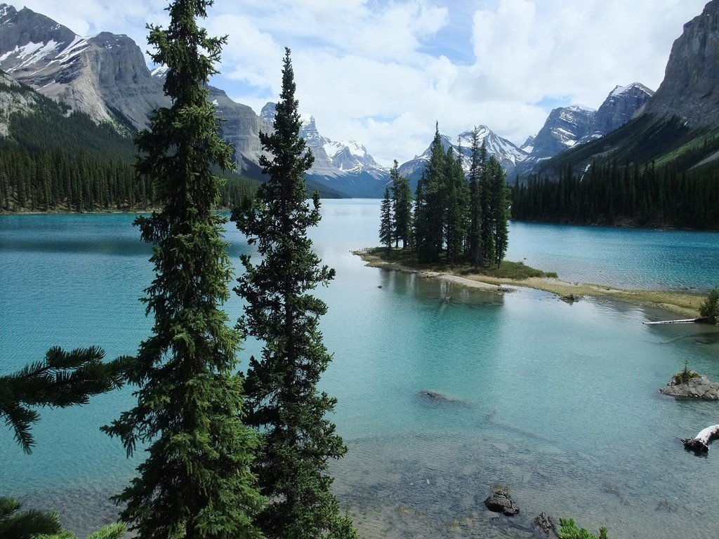 Spirit Island at Maligne Lake