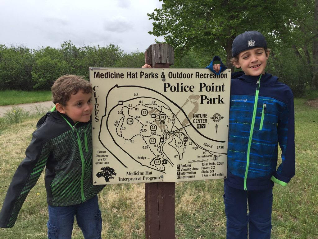 Police Point park in Medicine hat