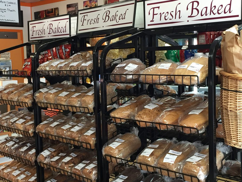 Fresh bread at Sugar Shake Bakery, Bragg Creek