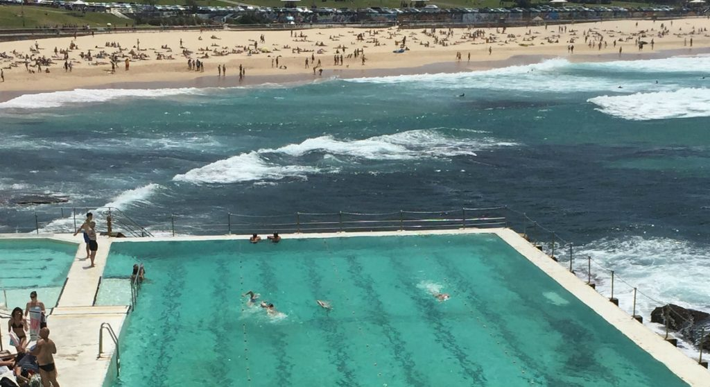 Bondi Beach in the summer