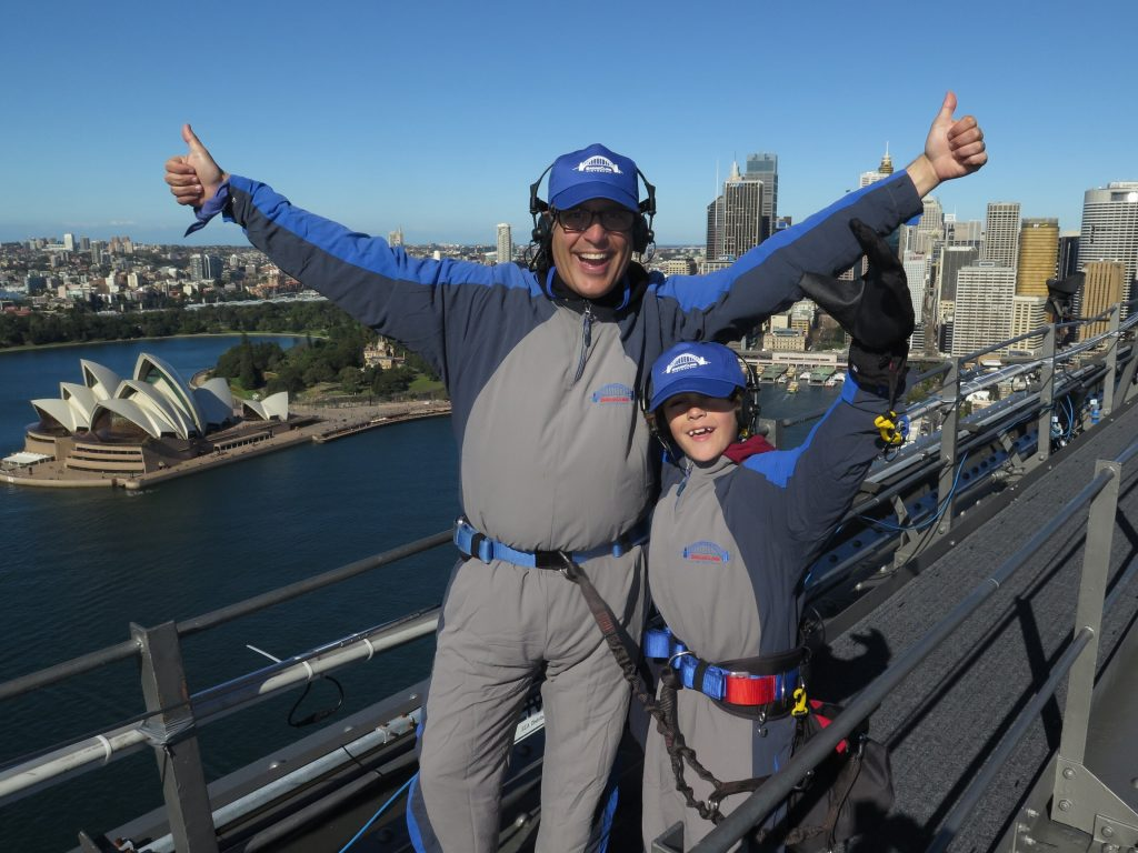 top of the Sydney Harbour BridgeClimb