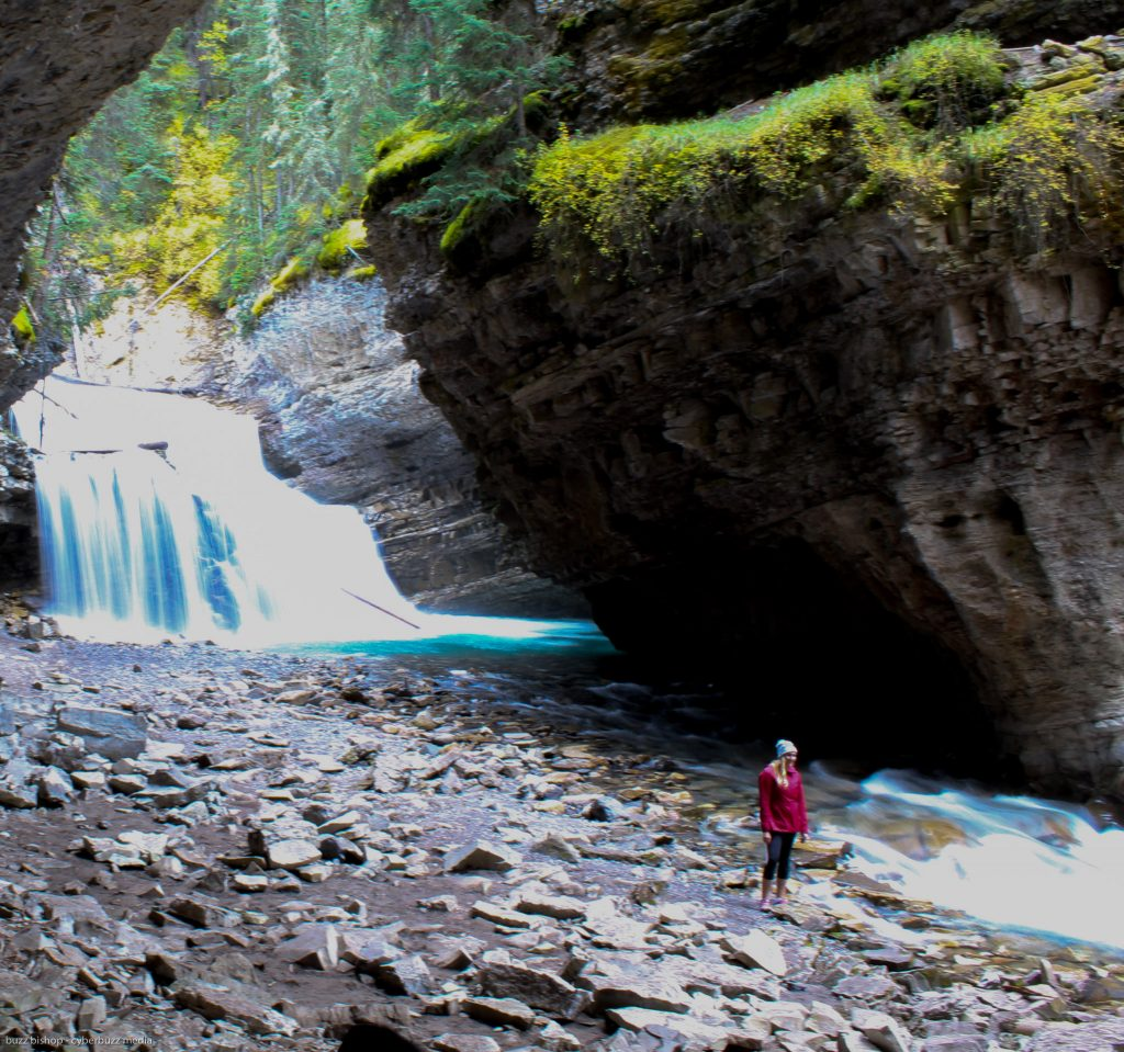 the secret trail to the upper falls at johnston canyon