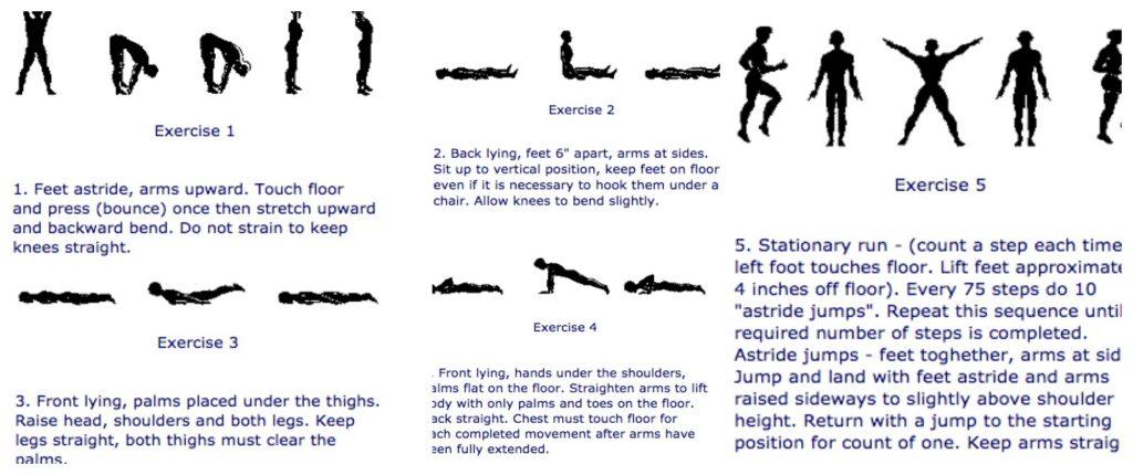 5BX exercises