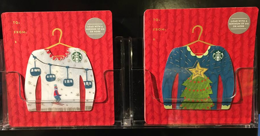 Ugly Christmas Gift Cards