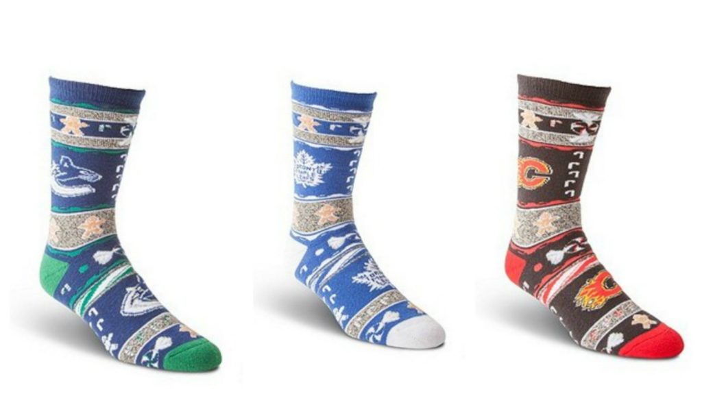 NHL Ugly Christmas Socks