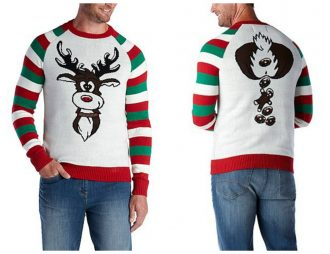 Ugly Christmas Reindeer Pooping Sweater