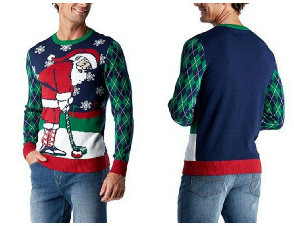 Ugly Santa Golf Christmas Sweater