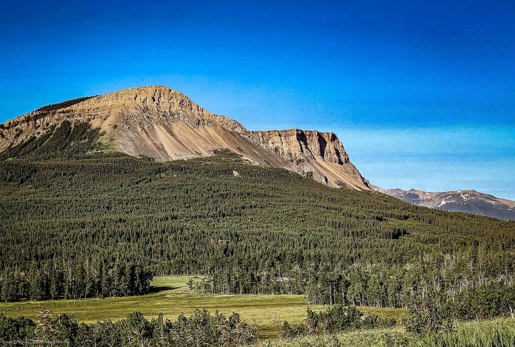 table mountain in the crowsnest pass of alberta